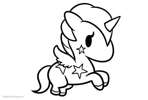 Simple Chibi Unicorn Coloring Pages   Free Printable ...