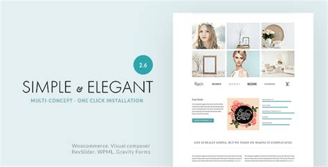 Simple & Elegant – Multi Purpose WordPress Theme Download ...