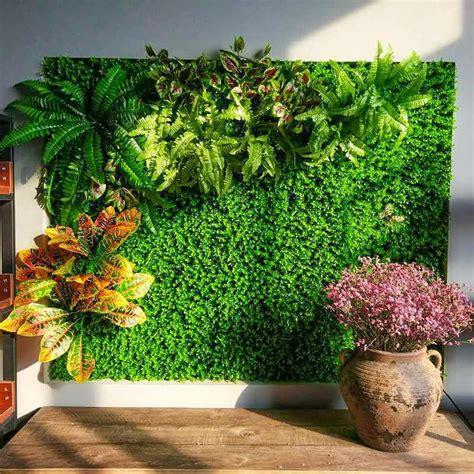 Simulación de planta en la pared que cuelga decoración de ...