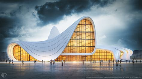 Simulation of Zaha Hadid Architect Project   Evermotion