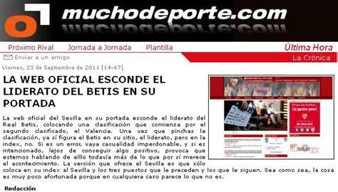 Sin complejos: El líder y la web oficial sevillista. La ...