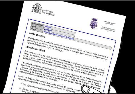 SINDICATO PROFESIONAL DE VIGILANTES   SEVILLA: Informe 55 ...