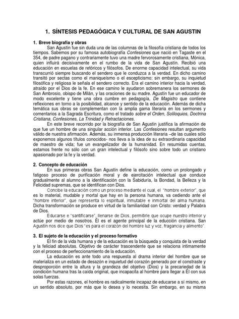 SÍNTESIS PEDAGÓGICA Y CULTURAL DE SAN AGUSTIN.docx ...