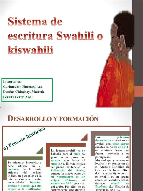 Sistema de Escritura Swahili o Kiswahili | Idioma swahili ...