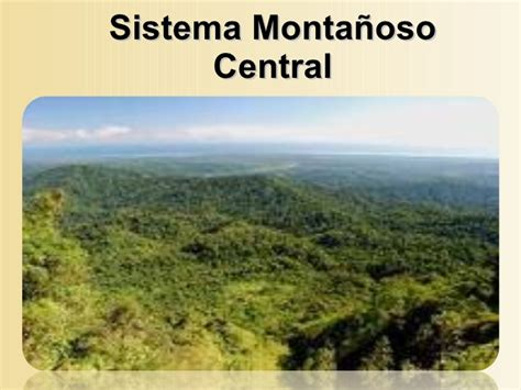 Sistema montañoso p