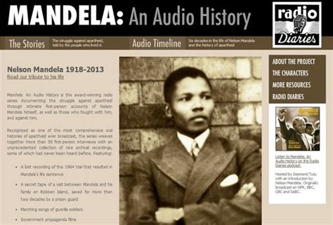 Six Great Multimedia Resources on Nelson Mandela | The ...