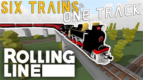 SIX TRAINS ONE TRACK!   Rolling Line VR Toy Train ...