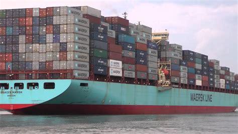 Skagen Maersk Container ship leaving Savannah GA 7/29/2012 ...