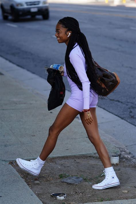 SKAI JACKSON Arrives at DWTS Studio in Los Angeles 09/03 ...