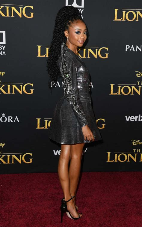 Skai Jackson Attends The Lion King Premiere at Dolby ...