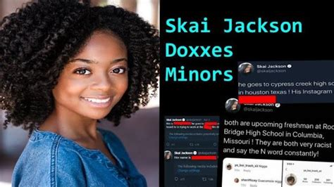 Skai Jackson is DOXXING children  proof    YouTube