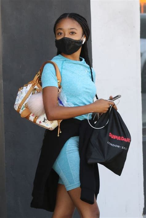 SKAI JACKSON Leaves DWTS Rehersal in Los Angeles 09/05 ...