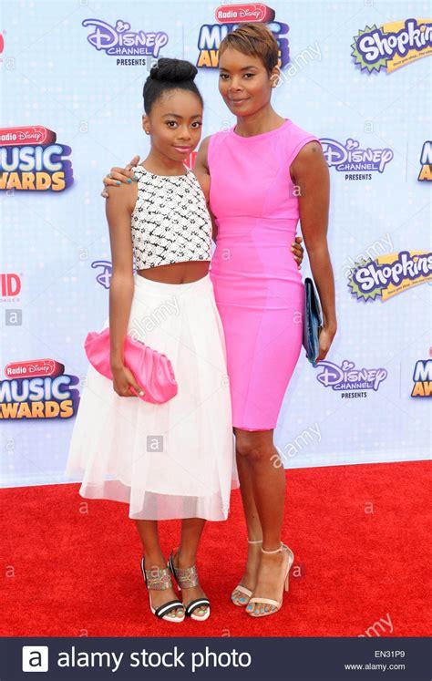 Skai Jackson & mother Kiya Cole Radio Disney Music Awards ...