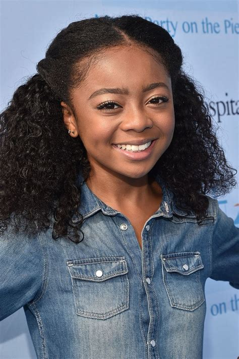 Skai Jackson Shows Off a Straightened Hairstyle  con ...