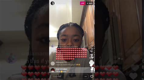 Skai jackson talking to her fans on Instagram live   YouTube