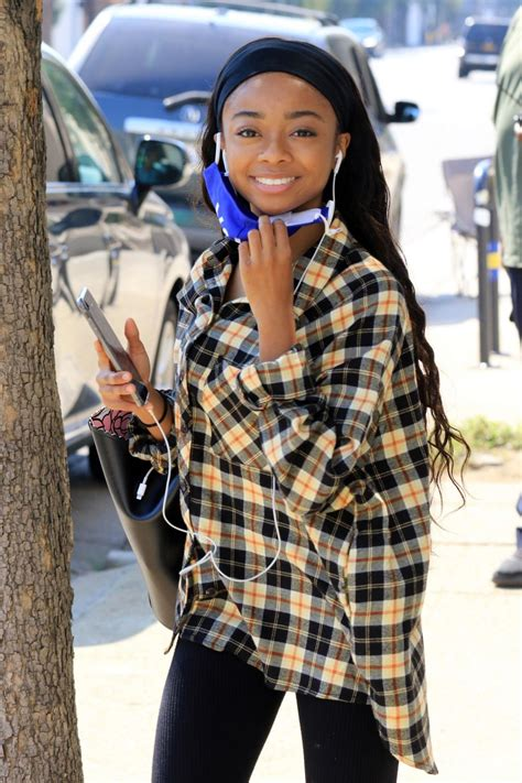 SKAI JACKSON Wearing a Vote Mask at DWTS Studio in Los ...