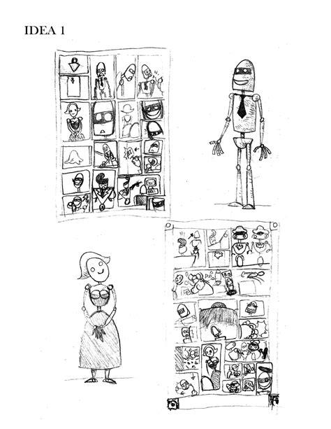 sketch de los personajes y de la novela gráfica | Novelas ...