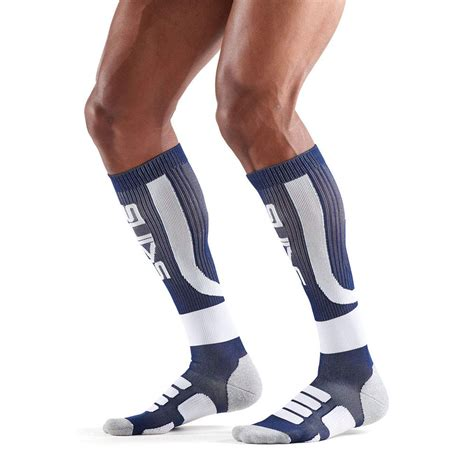 Skins Mens Active Compression Socks Blue White Sports ...