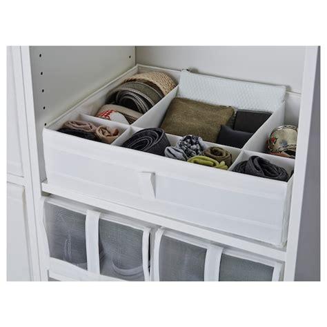 SKUBB Box with compartments   white   IKEA