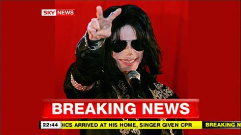 Sky News Breaking Michael Jackson Death   YouTube