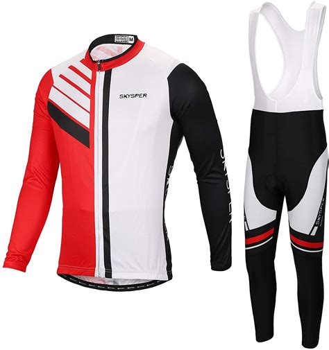 SKYSPER Maillot Ciclismo Hombres Jersey Mangas Largas ...