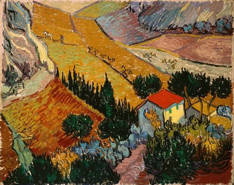 """""""Landscape with House and Ploughman""""  Netherlands, 1889 ..."""