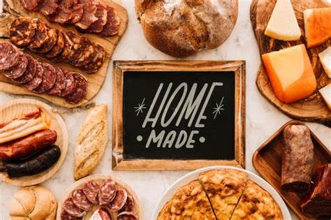 Slate mockup with traditional spanish food PSD file | Free ...
