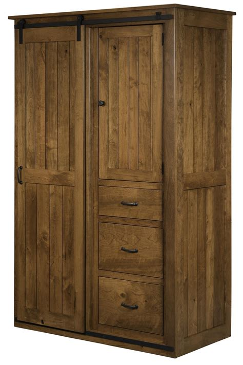 Sliding Barn Door Wardrobe Cabinet from DutchCrafters