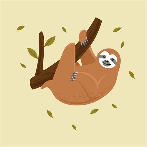 Sloth Vector Illustration   Download Free Vectors, Clipart ...