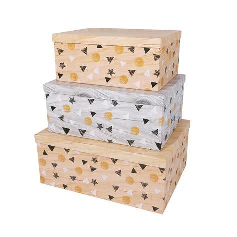 SLPR Decorative Storage Cardboard Boxes with Lids  Set of ...
