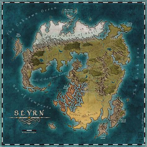 Slyrn by MaximePLASSE on deviantART | Fantasy world map ...