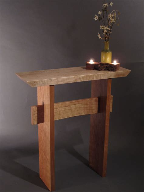 Small Console Table for Front Door: Mid Century Modern Zen
