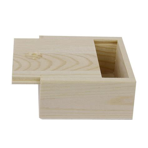 Small Plain Wooden Storage Box Case for Jewellery Small ...