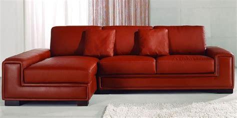 Small Red Leather Corner Sofa | Leather corner sofa, Small ...