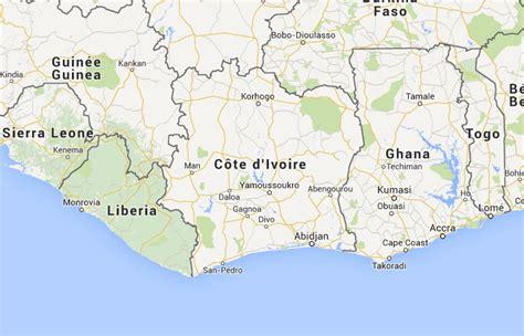 Mapa de Costa de Marfil, donde está, queda, país ...