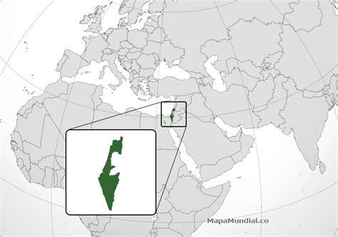 Mapa de Israel, donde está, queda, país, encuentra ...
