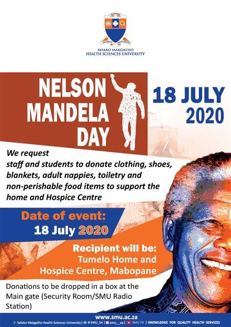 SMU Nelson Mandela Day 2020   Sefako Makgatho Health ...
