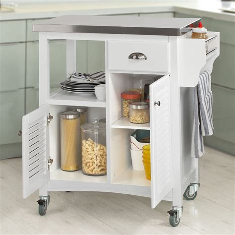 SoBuy Kitchen Storage Serving Trolley Cart with Stainless ...