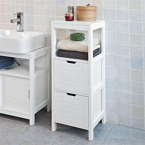 SoBuy Mueble columna de baño, Armario para baño – 1 estante