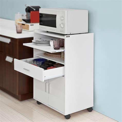 SoBuyAparador auxiliar bajo de cocina para microondas,con ...
