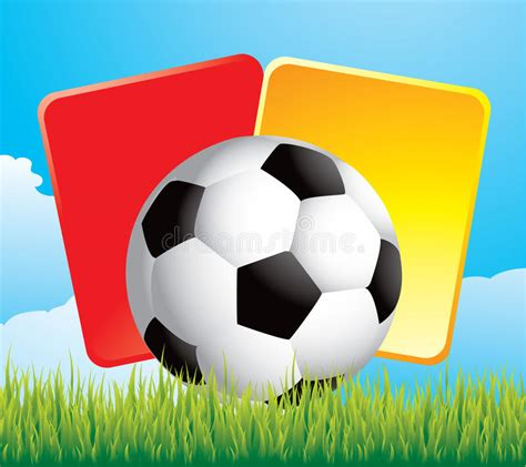 Soccer Ball And Penalty Cards On Grass Stock Photos ...