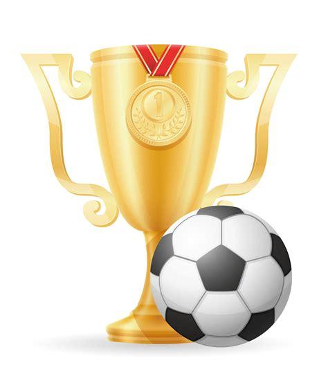 soccer cup winner gold stock vector illustration ...