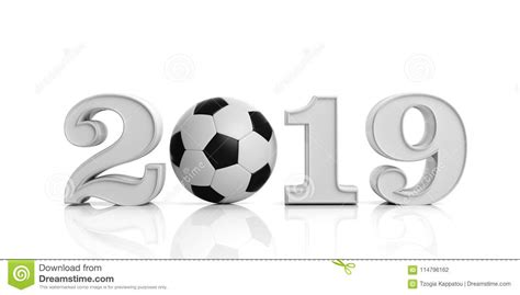 Soccer, Football, 2019. New Year 2019 With Soccer Ball ...