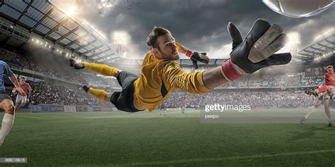 Soccer Goalkeeper Extreme Close Up Action High Res Stock ...