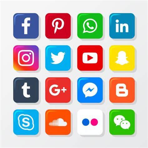 Social Media Icon Set   Download Free Vectors, Clipart ...
