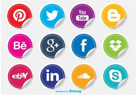 Social Media Icon Stickers   Download Free Vectors ...