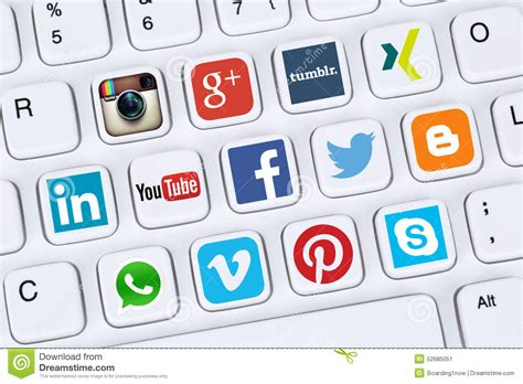Social Media Icons Like Facebook, YouTube, Twitter, Xing ...