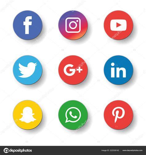 Social Media Icons Set Logo Vector Illustrator Facebook ...