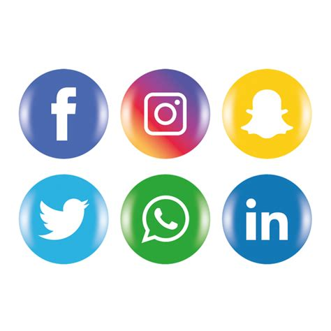 Social Media Icons Set Social Media Icon Set PNG e vetor ...