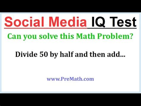 Social Media IQ Test: Multiplication and Addition with ...